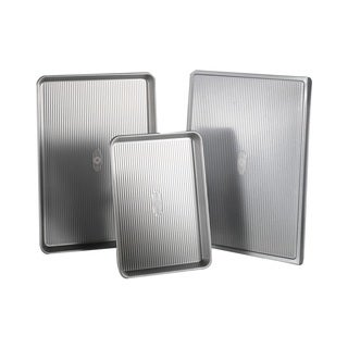 USA Pan Bakeware Stainless-steel 3-piece Cookie Sheet Pack