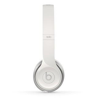 Beats by Dre Solo2 White Wired Reconditioned Headphones
