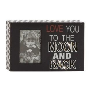 Black Wood 12x8-inch LED Wall Photo Sign