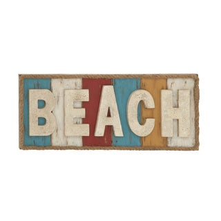Colorful and Fun Beach Theme Wall Sign Decor