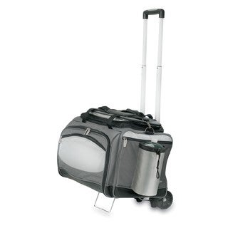 Picnic Time Vulcan Portable BBQ and Cooler Tote with Trolley