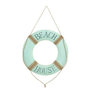 Brown and White Metal Beach Wall Decor