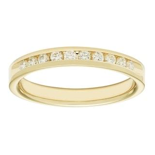 Boston Bay Diamonds 14k Yellow Gold 1/4ct TDW Diamond Anniversary Band - White