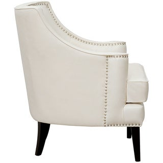 Chic Home Grace Button-tufted with Nailhead Trim Leather Accent Chair
