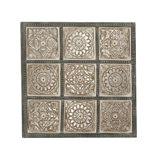 Wooden 36-inch W by 36-inch H Creatively Designed Wall Panel