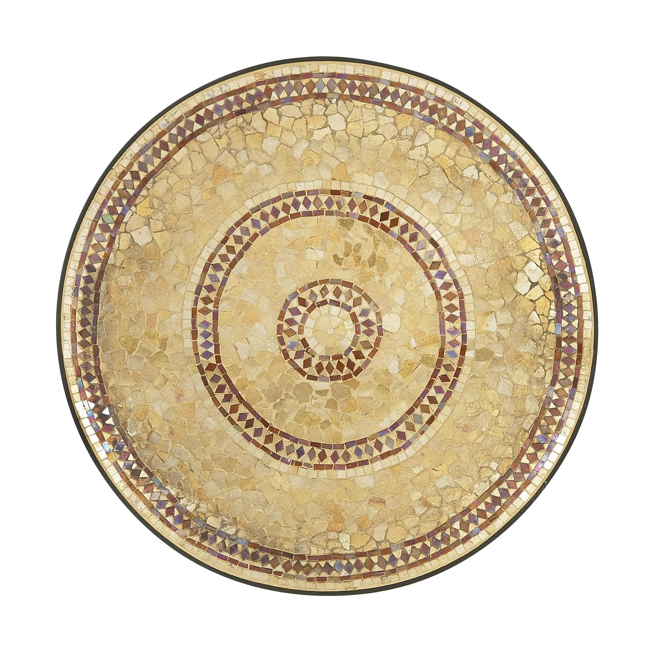 Studio 350 Brown Metal Circular Mosaic Wall Platter (Enti...