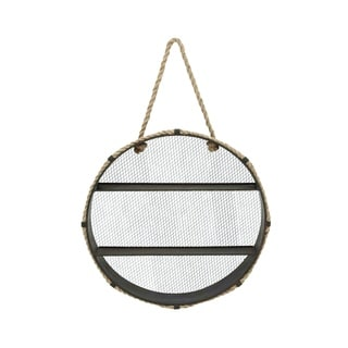 Metal/Rope Round Hanging Wall Shelf