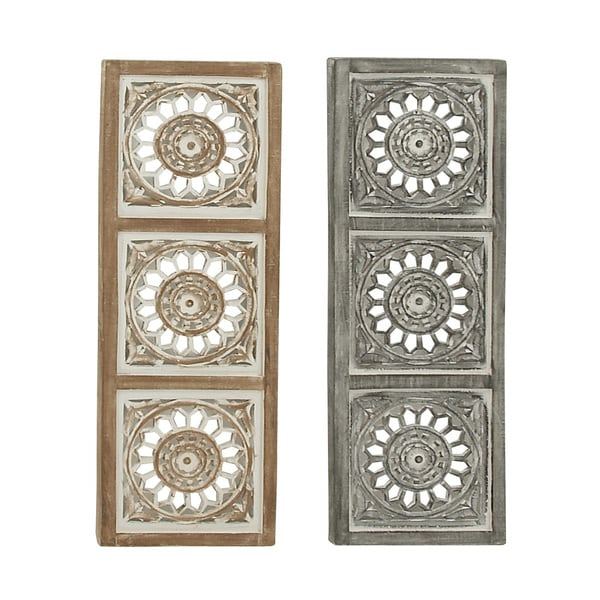 2 Assorted Appealing Wood Wall Panels