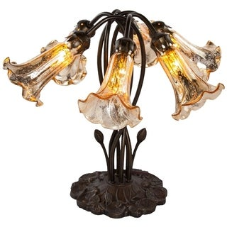 River Of Goods 16.75-inch 6-lilly Gold Mercury Glass Downlight Accent Lamp