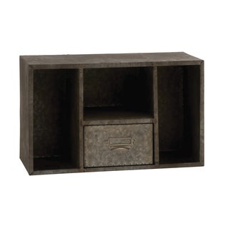 Rusty-style Square Metal Wall Shelf