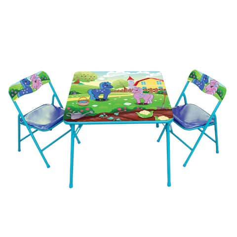 Gener8 Multicolor Metal and Vinyl Pony Table and Chair Set