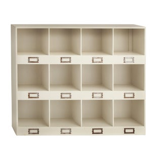 The Lovely Cream Wood 12-cubby Wall Shelf