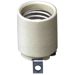 Leviton 008-03152-00F White Unglazed Porcelain Socket Lampholder