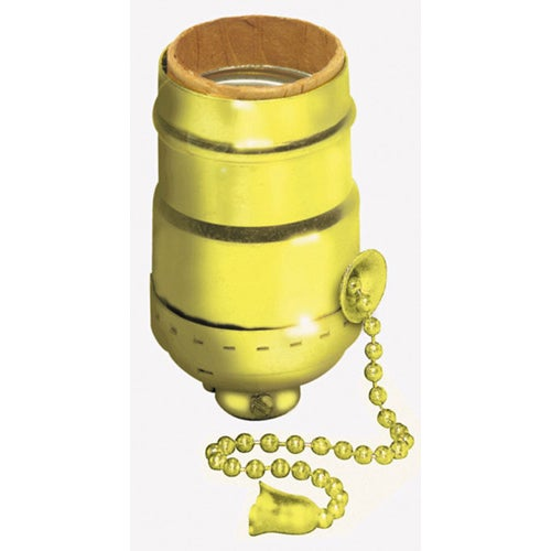 Leviton 014 19980 Pg Polished Br Pull Chain Lamp Socket Interior Mechanism