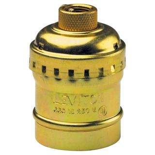 Leviton 014-9347-PG Polished Brass Switchless Lamp Socket