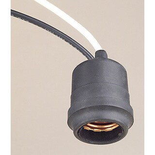 Leviton 001-55 BLK Black Rubber Outdoor Lamp Socket