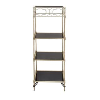 Metal and Glass Shelving Unit