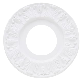 "Westinghouse 7702700 10"" White Victorian Molded Plastic Ceiling Medallion"