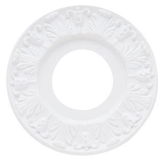 """Westinghouse 7702700 10"""" White Victorian Molded Plastic Ceiling Medallion"""