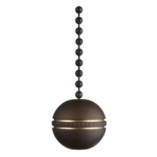 "Westinghouse 7709600 12"" Oil Rubbed Bronze Ball & Beaded Pull Chain"
