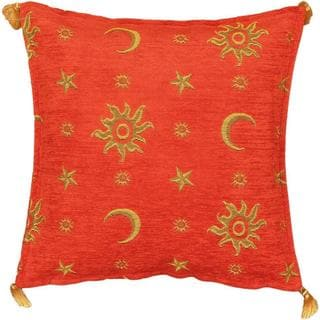 eCarpetGallery Casual Orange Throw Pillow (1'5 x 1'5)