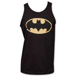 Adult Black Cotton Batman DC Comics Classic Logo Tank Top