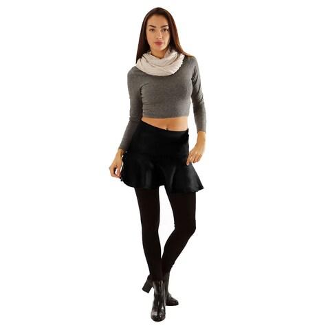 Women's Ruffled Mini Skater Skirt