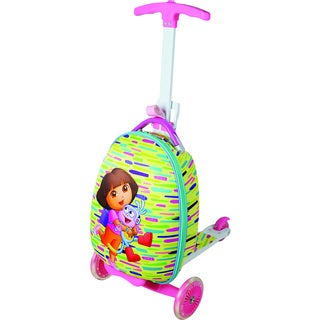 Nickelodeon Kids Dora Scootie 'Friends' Multi-color Scooter Upright Suitcase