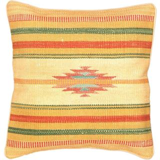 eCarpetGallery Beige/Yellow Wool Ottoman Hand-made Kilim Cushion Cover (1'5 x 1'5)