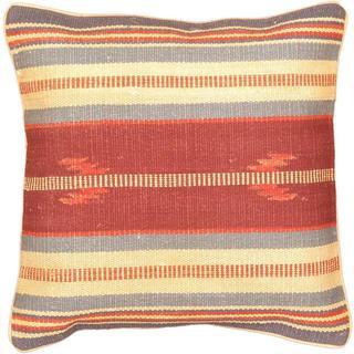 eCarpetGallery Ottoman Hand-made Purple/Red Wool Cushion Cover (1'5 x 1'5)