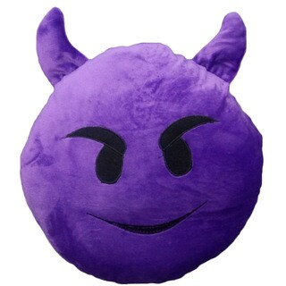 Purple Fleece/Polyester Plush Devil Pillow