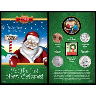 American Coin Treasures A Year to Remember Santa Card