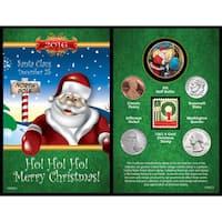 American Coin Treasures A Year to Remember Santa Card
