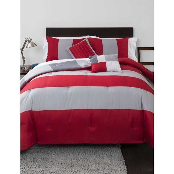 Rugby Stripe 5-piece Comforter Set