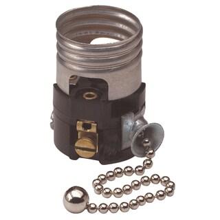 Leviton C21-19980-00M Silver Pull Chain Lamp Socket Interior Mechanism