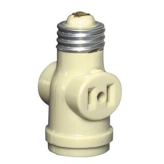 Leviton C21-1403-I Ivory 2 Outlet Lamp Socket