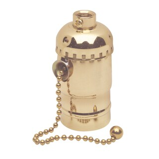 Leviton C20-19980-PG Polished Brass Pull Chain Lamp Socket Interior Mechanism