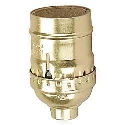 Leviton C20-09347-000 Polished Gilt Switchless Lamp Socket