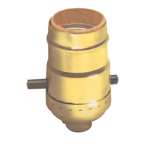 Leviton C20-06098-0PG Push Button Lamp Socket