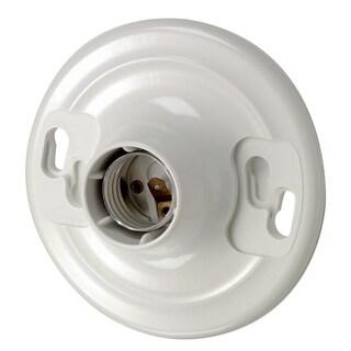 Leviton 100-8829-CW1 White 2 Terminal Top Wired Keyless Lampholder