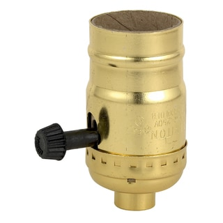 Leviton 059-7090-BR Brass Three Way Lamp Sockets