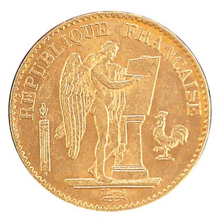 American Coin Treasures French Angel .900 Pure Gold Coin