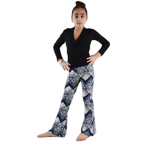 Kids' Ethnic Printed Soft Bell Bottom Pants