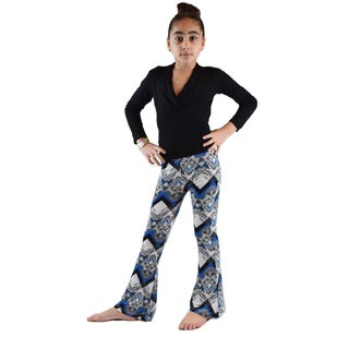 Kids' Ethnic Printed Soft Bell Bottom Pants (3 options available)