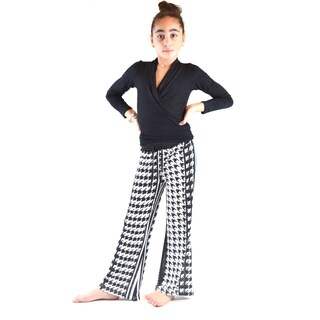 Girl's Golden Black Printed Jersey Palazzo Pants (3 options available)