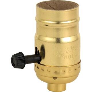 Leviton 051-7090-PG Polished Brass Three Way Lamp Sockets