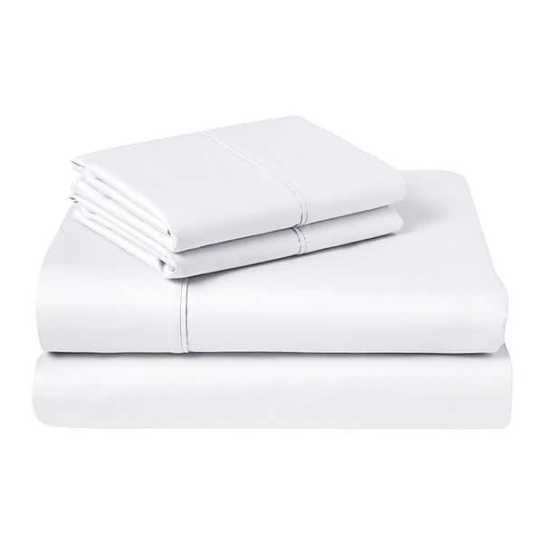 "1000 TC Organic Cotton Sheets 15/""Deep Pocket 4 PC Sheet Set All Size Solid"