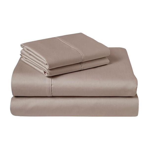 4 Piece Bed Sheet Set 100/% Organic Cotton 600 Thread 15/'/' Deep Pocket Full Size