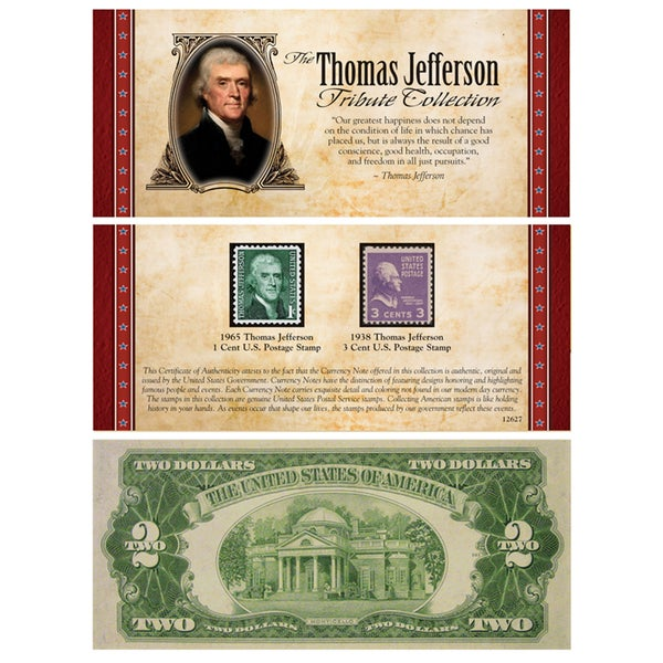 American Coin Treasures' The Jefferson Tribute Collection with Rare 2 Bill