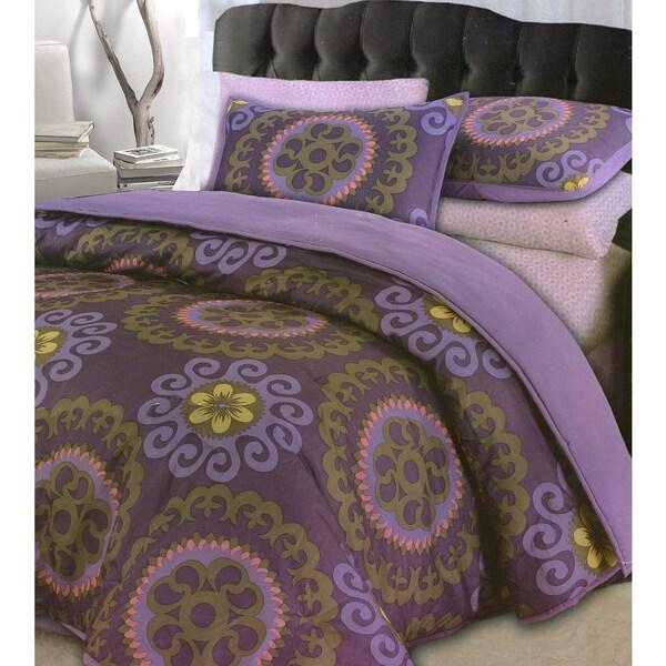 Floral Medallion 3-piece Comforter Set